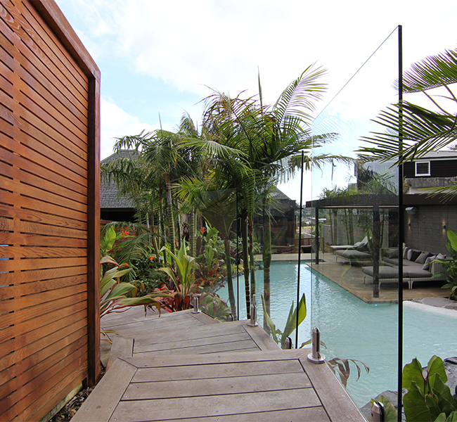 High-end staired deck leading to a pool - Cost Of A High-end Deck And Pergola Zones