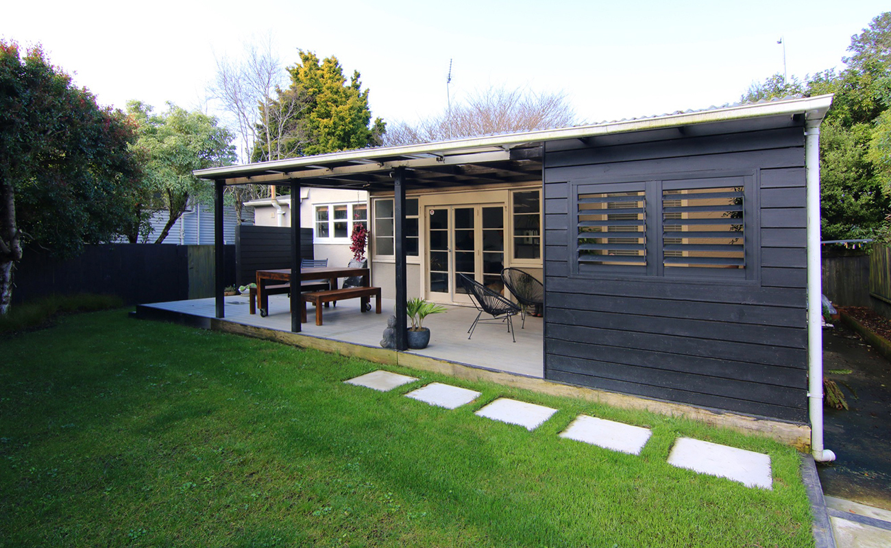 Black Shutters used for Landscape design in Auckland
