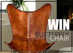 Win a Tan Finish Butterfly Chair by L&L