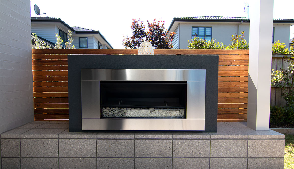 Zones landscaping outdoor fireplace