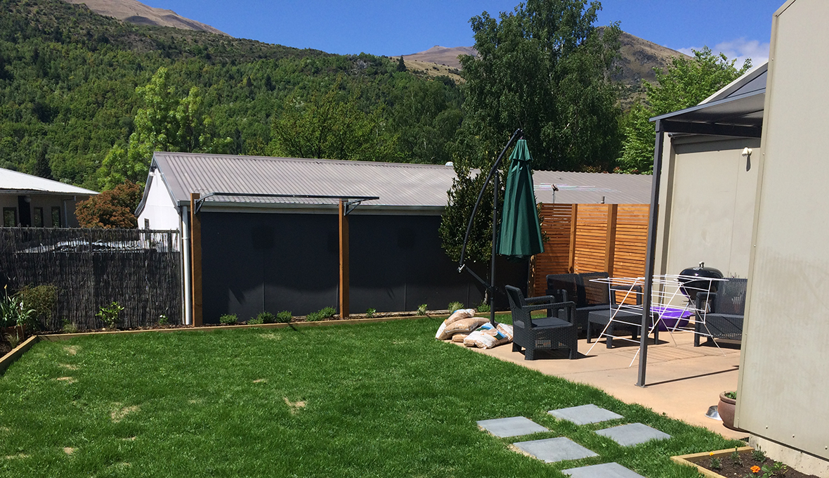 Progress on an outdoor room in arrowtown