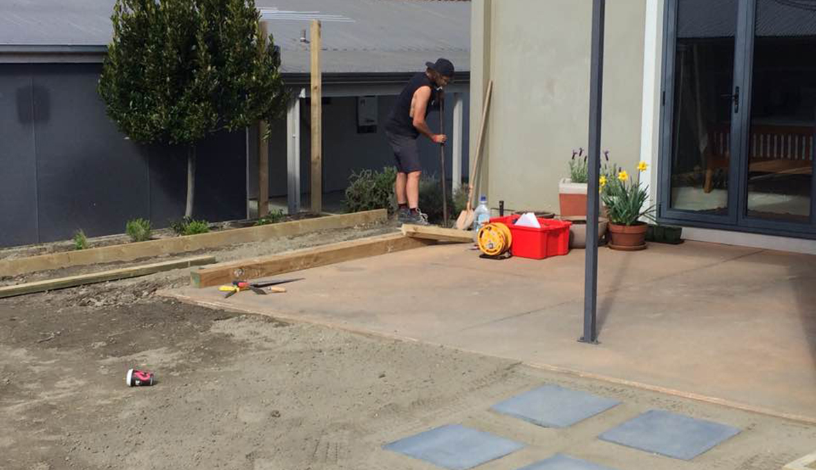 Building an outdoor room in arrowtown