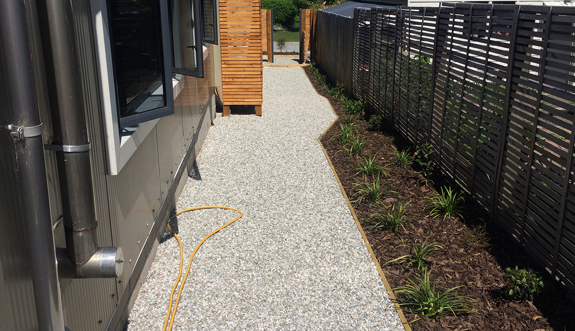 An after photo of the footpath after landscape work