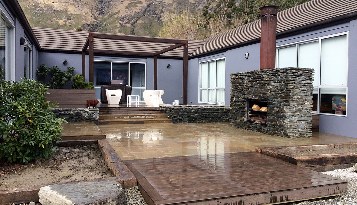Completed Outdoor Room Renovation at the foot of the Remarkables on Lakeside Estate