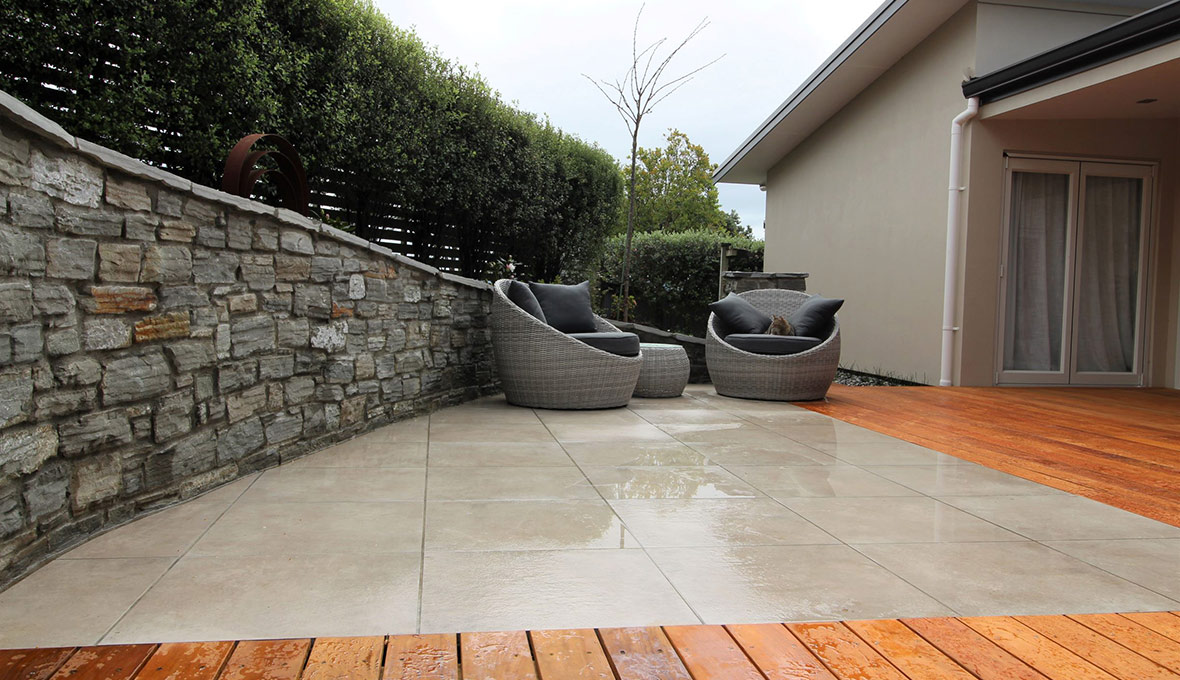 New deck and concrete