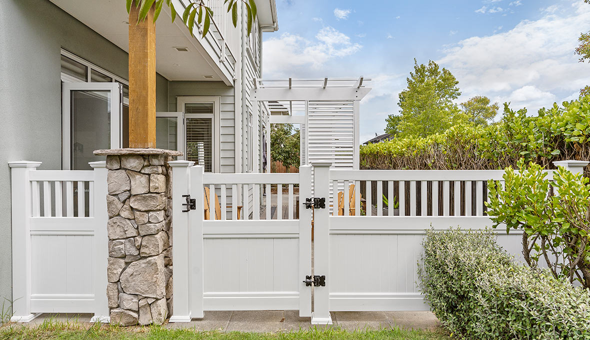 Premium Turf and White Fencing