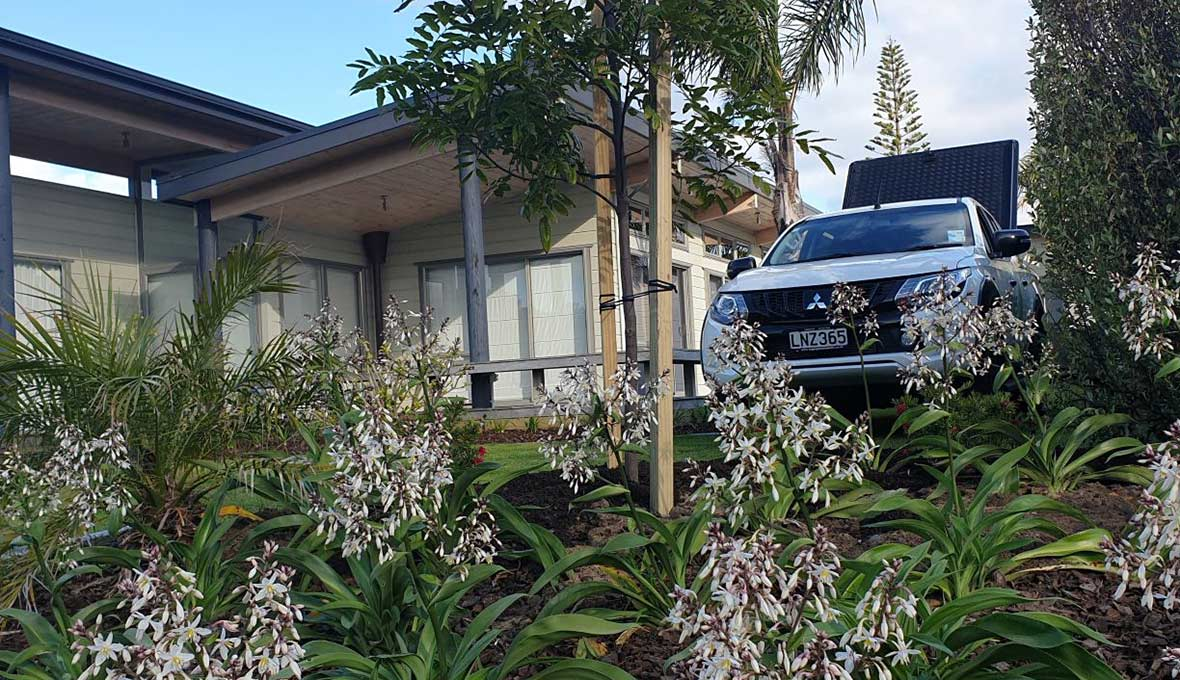 A landscaped Hastings holiday home in Matapouri, Whangarei