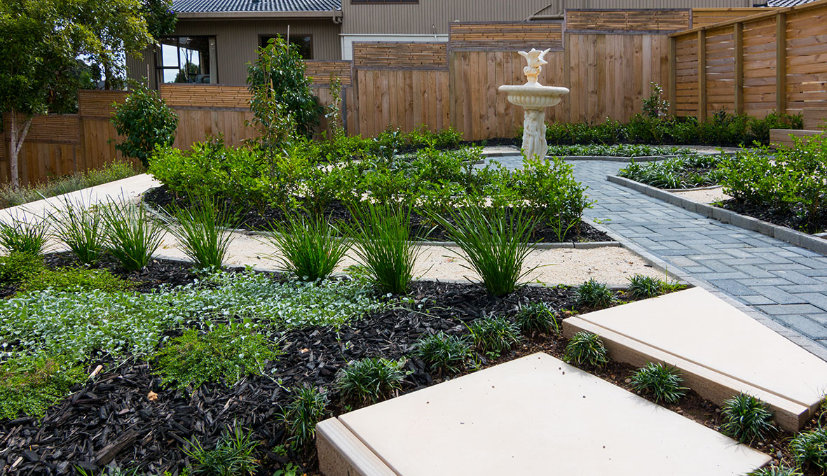 Garden design with low maintenance required