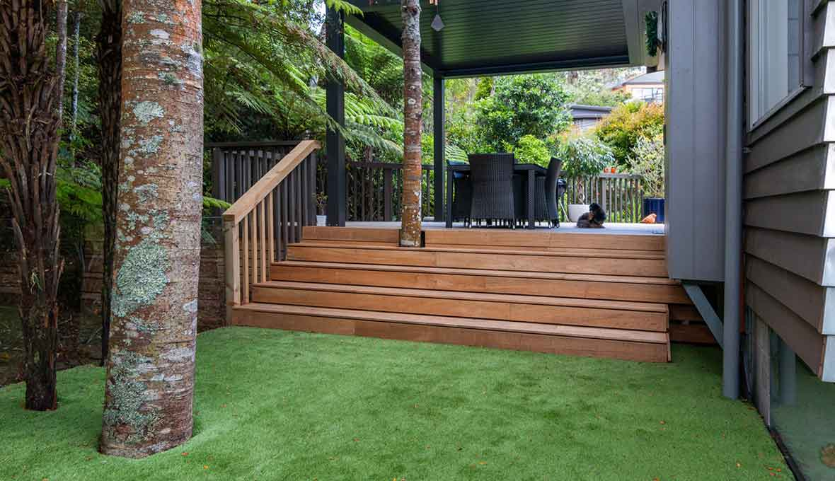 Turning an unused backyard into an entertainment hub in Birkenhead, Auckland