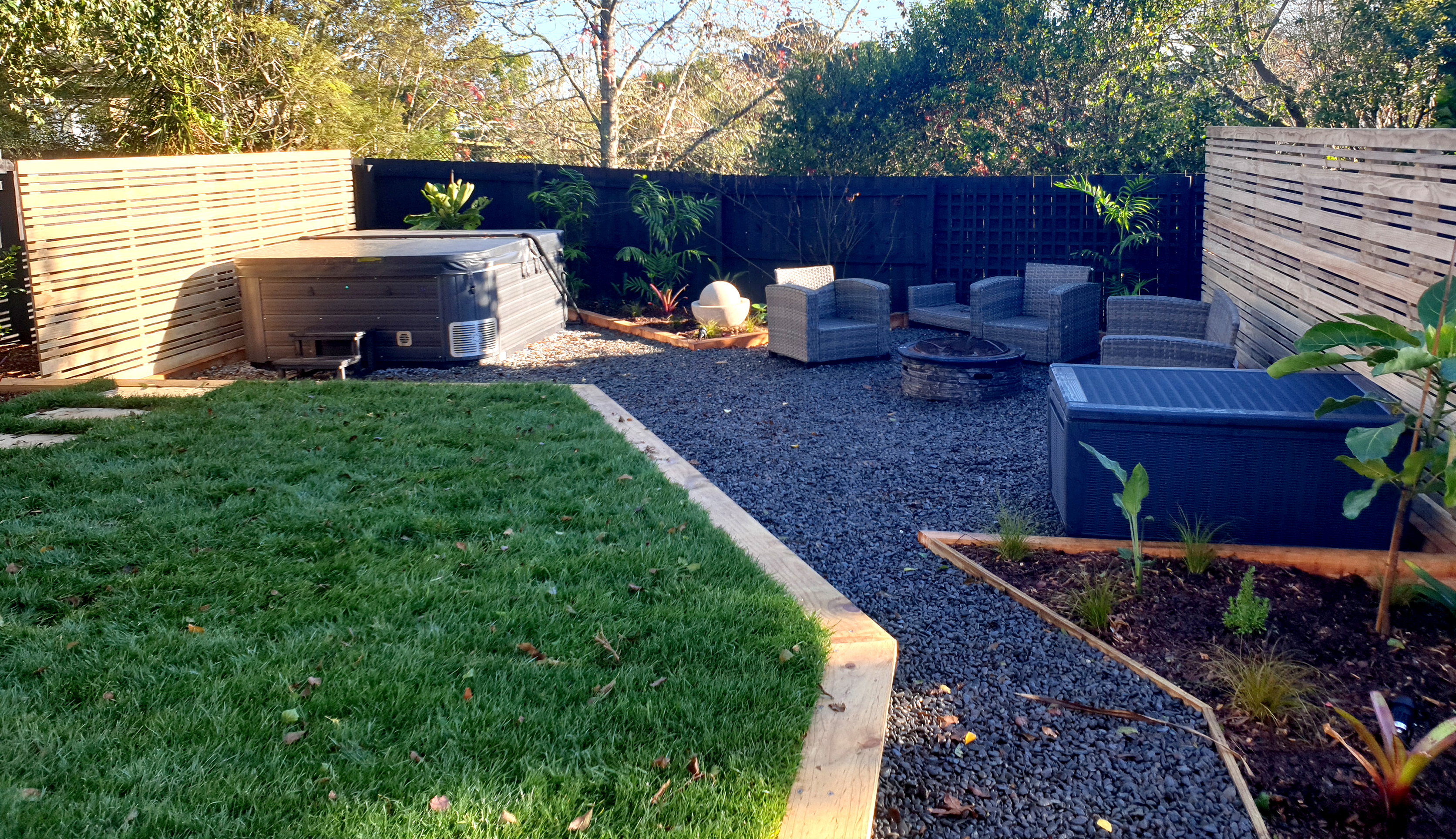 Backyard transformation into home resort in West Auckland