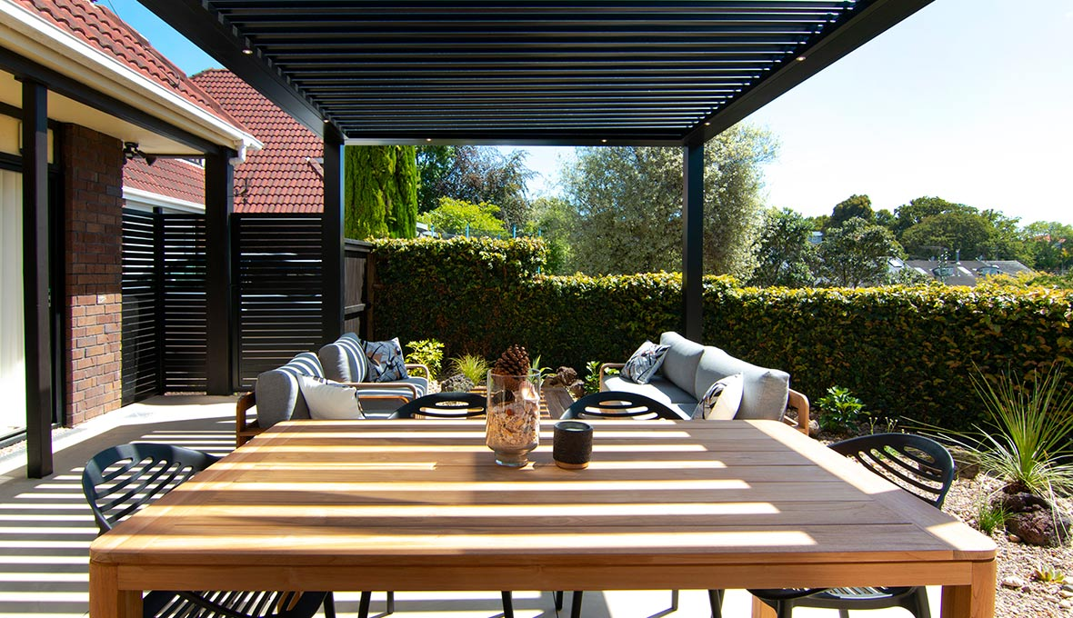 Outside renovation that is modern transformation that would be sleek, functional, and low-maintenance.
