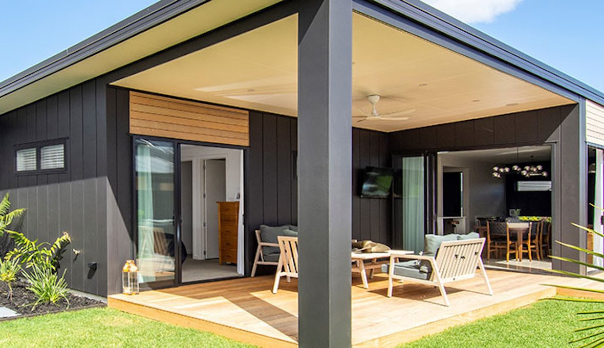 Contemporary landscape for a new build property in Papamoa, Tauranga