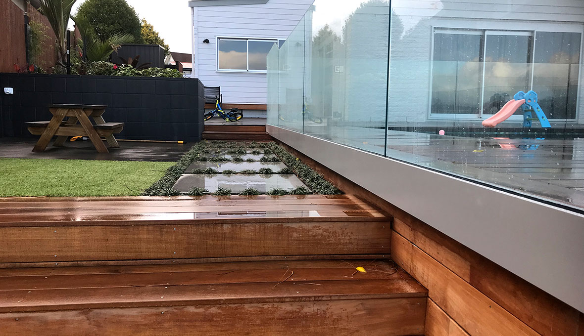 Elegant pool installation for waterfront property in Welcome Bay, Tauranga