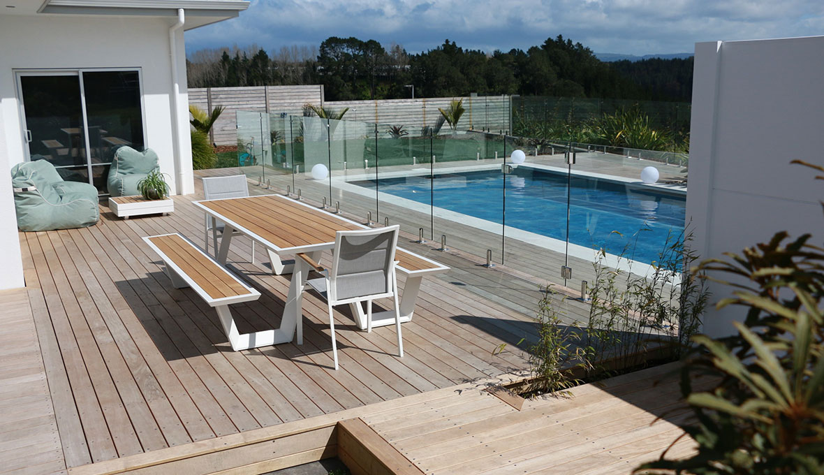 Tauranga modern landscape for family home.