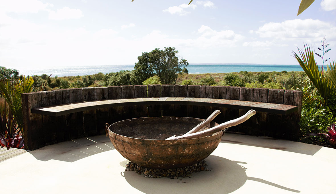 fire pit for outdoor area