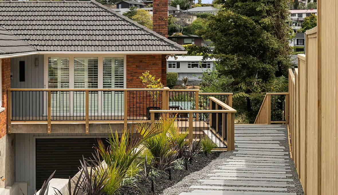 Zones landscaping for Auckland house