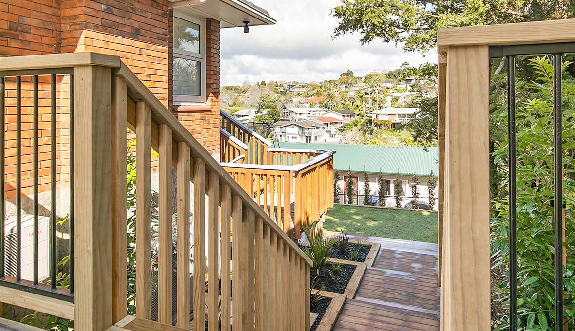 New porch and pathway design for an Auckland house