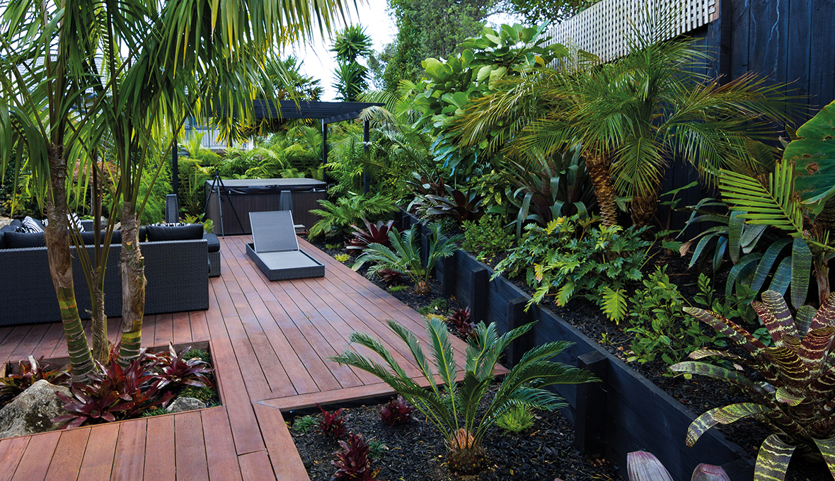 Zones landscaping zen resort style garden decking