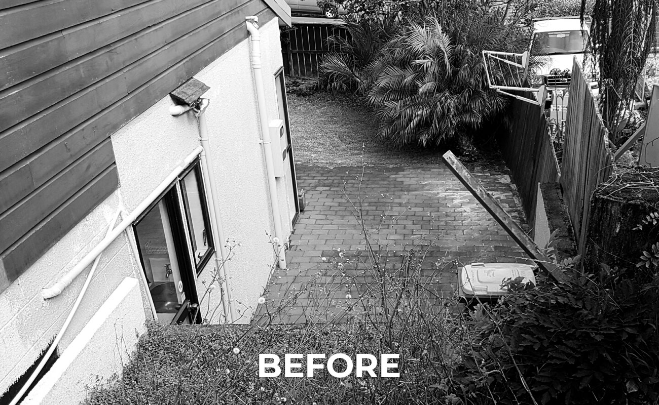 old tired yard transformed