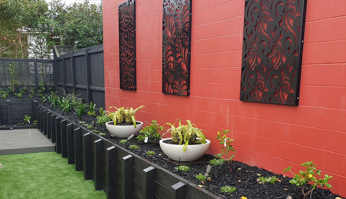 Feature wall in auckland byzones landscaping