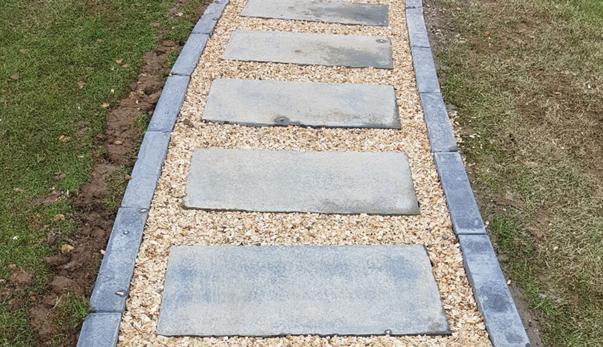 Details of the new paved path in Totara Vale