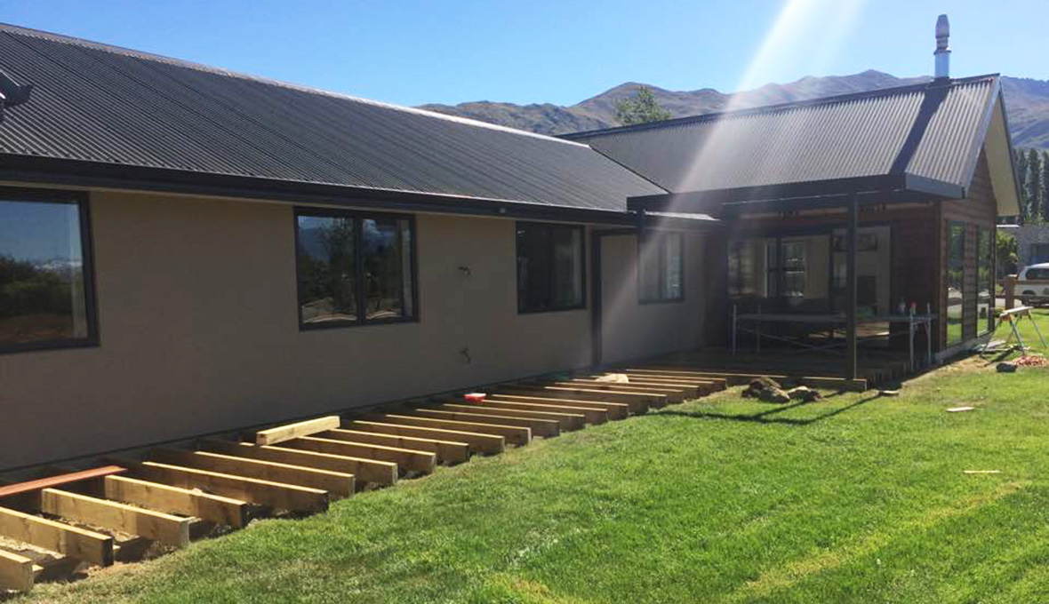 Decking work in progress in Wanaka