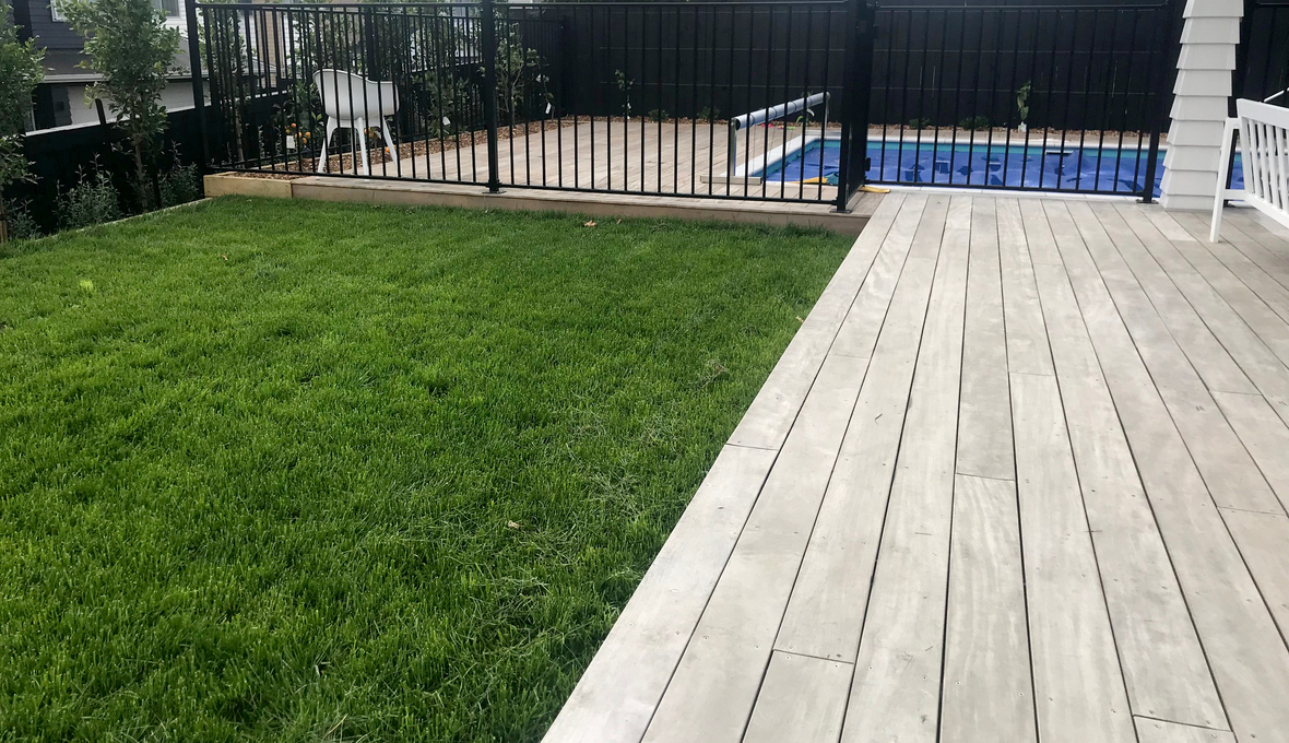 New deck and lawn