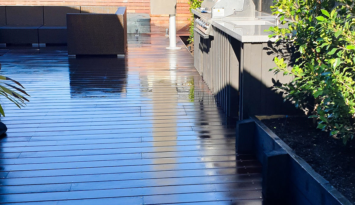 After image of a renovated deck in Auckland, New Zealand.