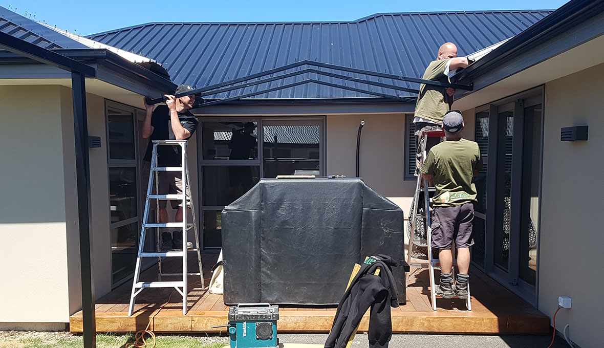 christchurch home during pergola build