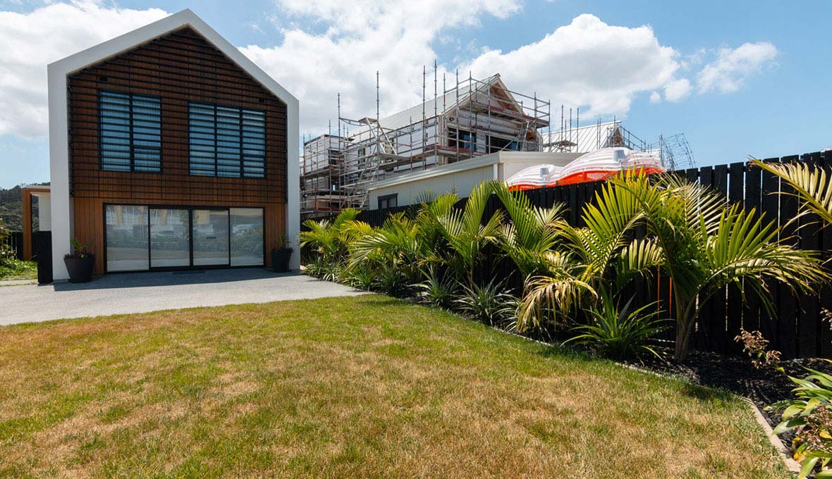 Landscaping a showhome in Hobsonville