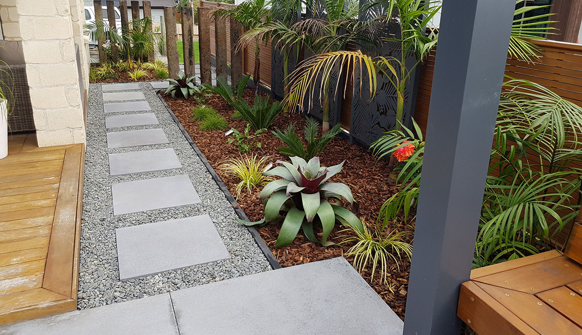Tauranga residential path by Zones Landscaping