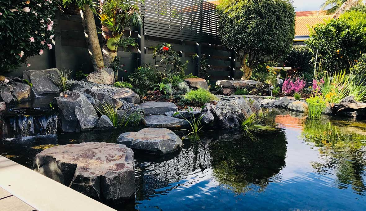 Garden landscaped by zones in Tauranga