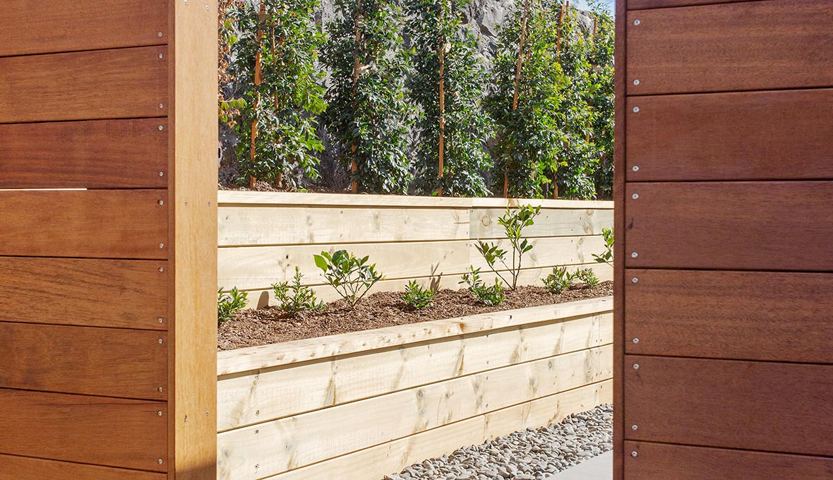 Warm landscaping for an outdoor area in Auckland