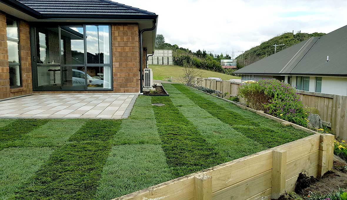 practical lawn project by Zones Tauranga