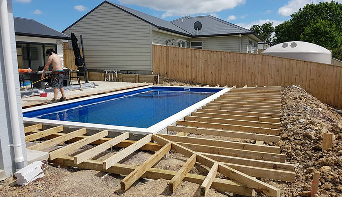 Pool deck work in progress