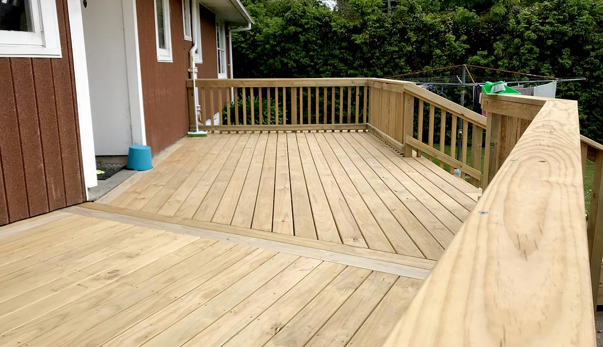 Judd Stratful provided this Auckland homeowner with a cost effective pine decking solution.