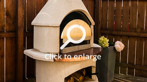 A new outdoor pizza oven