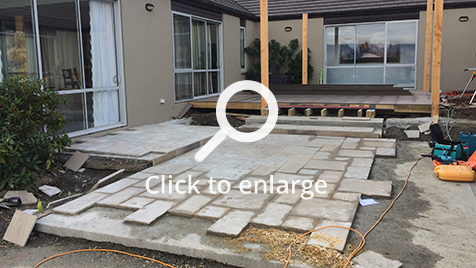 WIP Outdoor Room Renovation at the foot of the Remarkables on Lakeside Estate