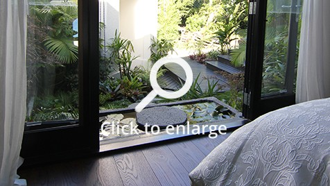 Zones landscaping small private sub tropical garden