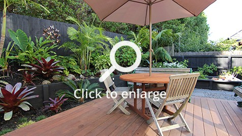 Zones landscaping zen resort style garden alfresco dining