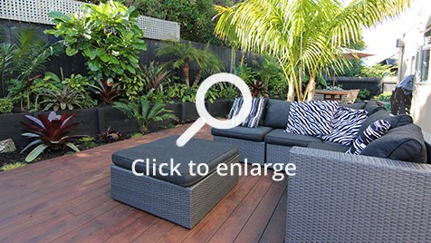 Zones landscaping zen resort style garden outdoor seating