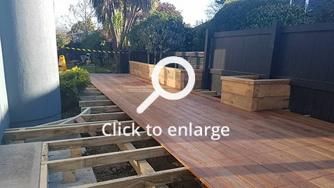 Deck building in progress in Christchurch