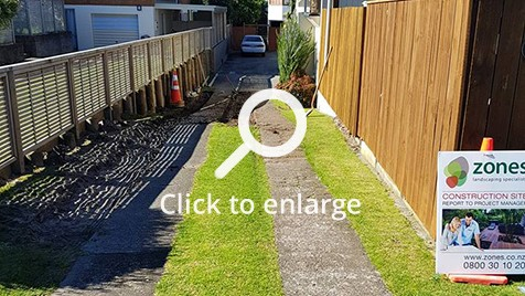 Driveway before fixing it in Mt Maunganui