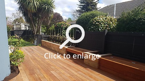 Finished deck in Christchurch