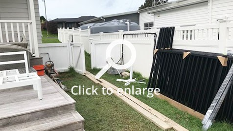 before picture of the yard in riverhead, auckland