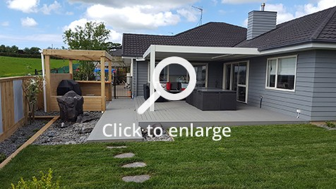 Outdoor room area in Pukekohe