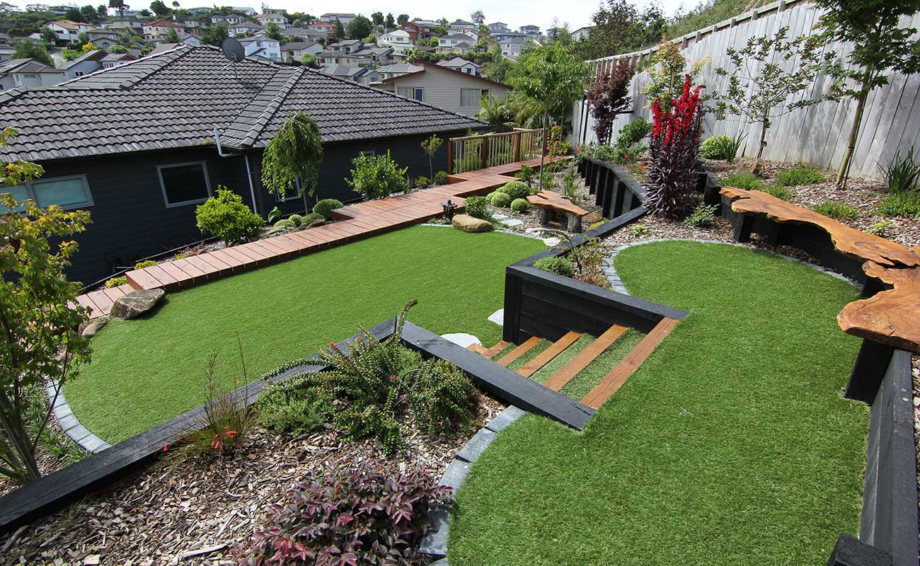 A landscape design in Auckland