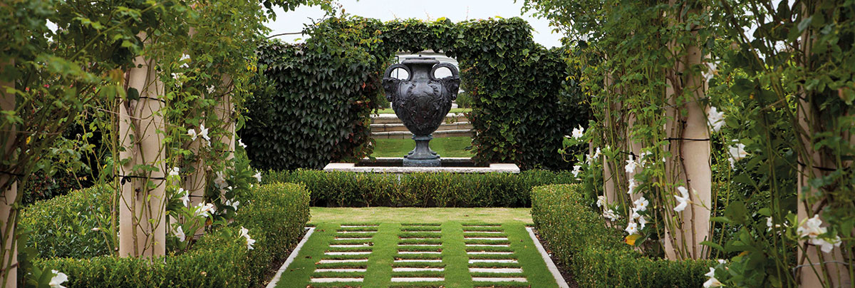 Inspired by the great classical gardens of Europe, this stunning garden was designed by Robin Shafer.