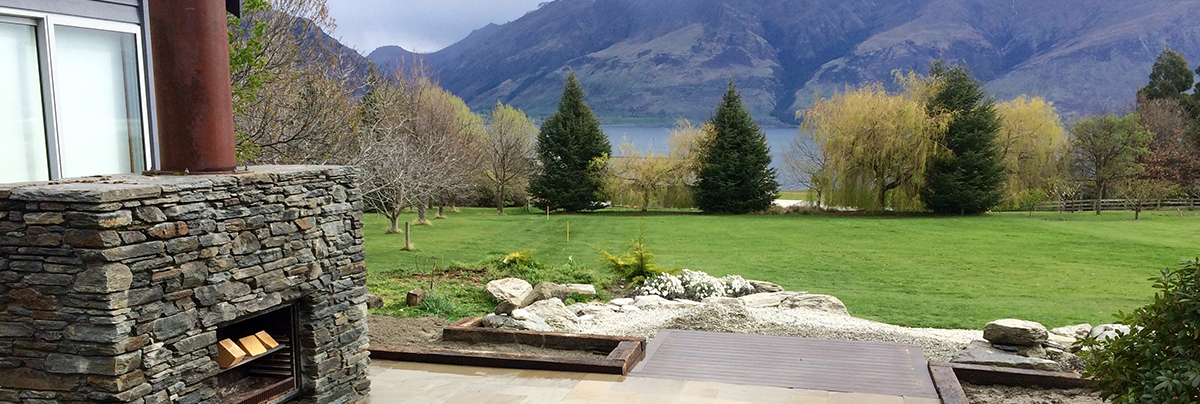 Landscaping project at the foot of the remarkables