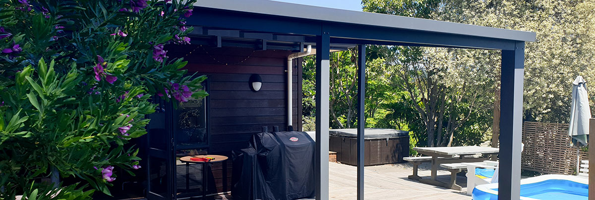 Pergola for outdoor living by zones landscaping, New Zealand